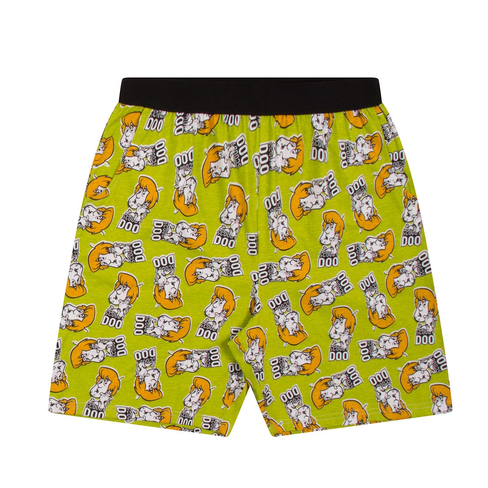 Scooby-Doo-Shaggy-Mystery-Machine-Official-Mens-Loungewear-Retro-Short-Pyjamas thumbnail 8