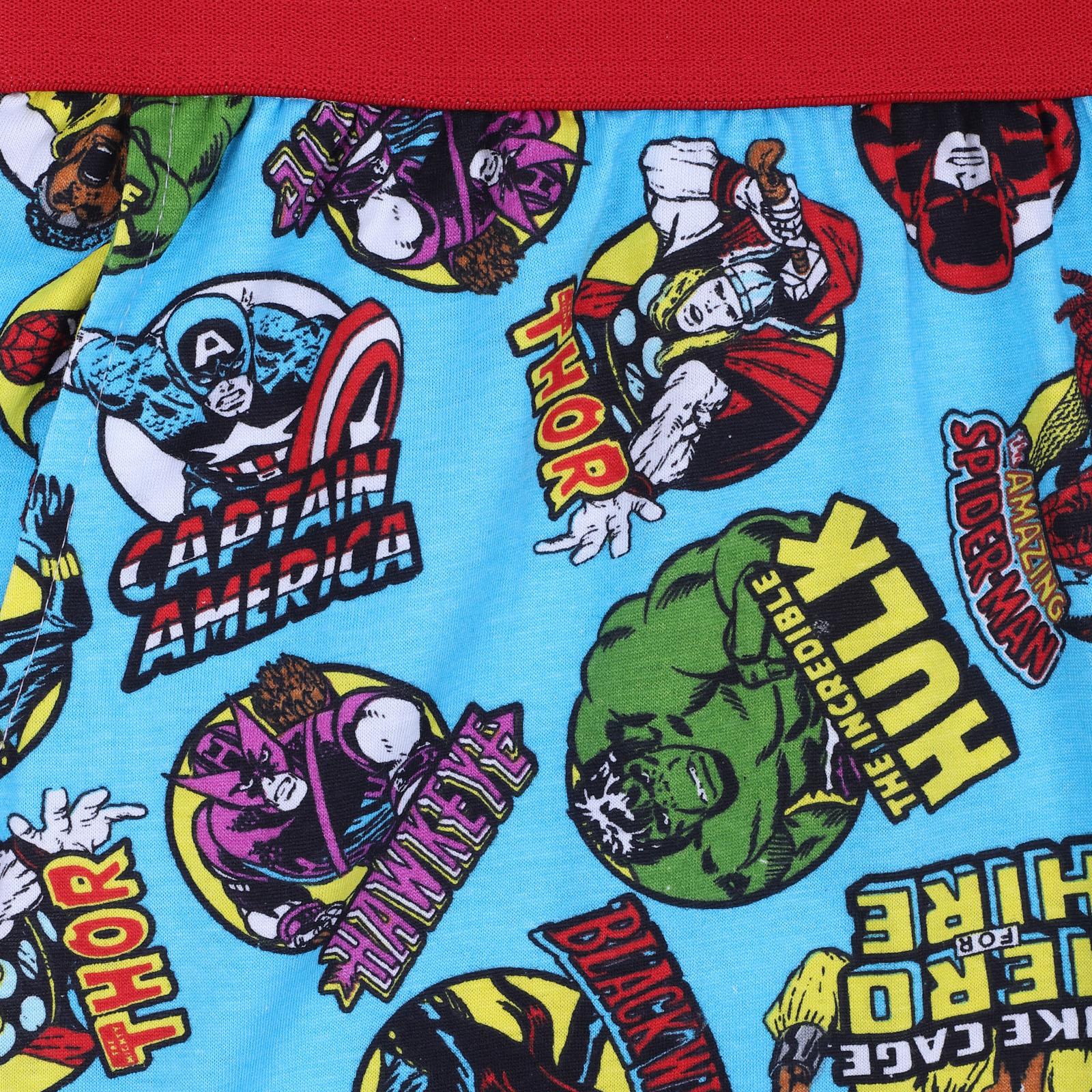 con Stampa Frontale Art 46302 Marvel Pigiama Bambino Estivo Spider-Man Corto in Cotone