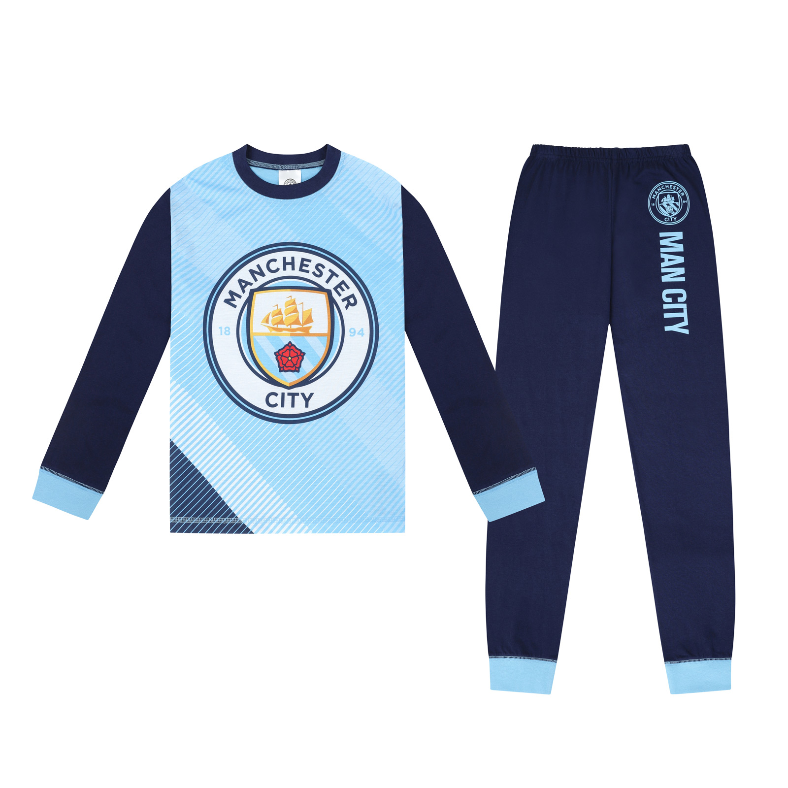 West Ham United Fc Official Gift Boys Sublimation Short Pajamas 10-11 Years Blue