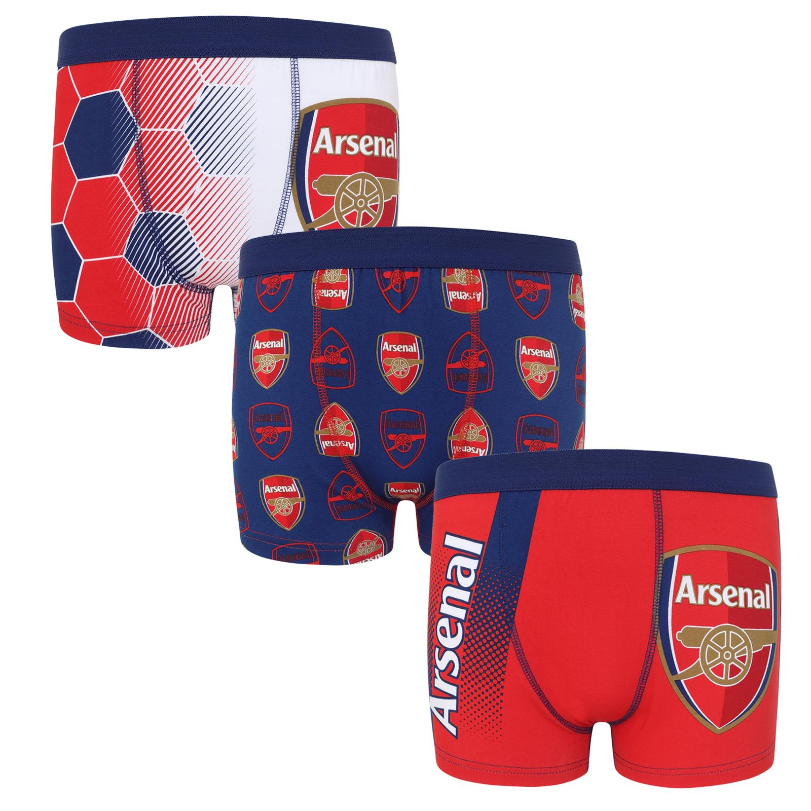 Tottenham Hotspur FC Official Football Gift 3 Pack Boys Crest Boxer Shorts