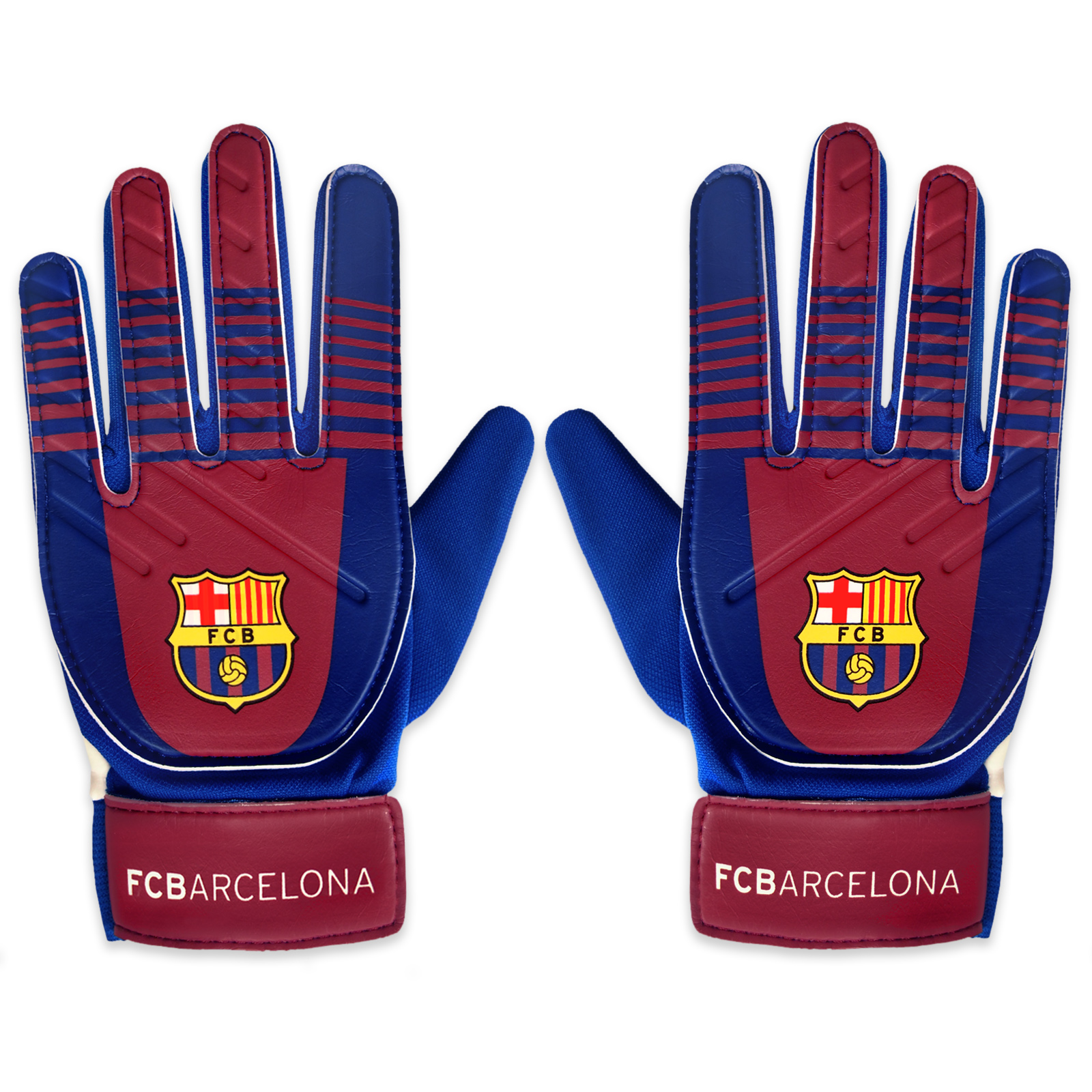 FC Barcelona Official Football Gift Kids Youths Goalkeeper Goalie Gloves b3db698759