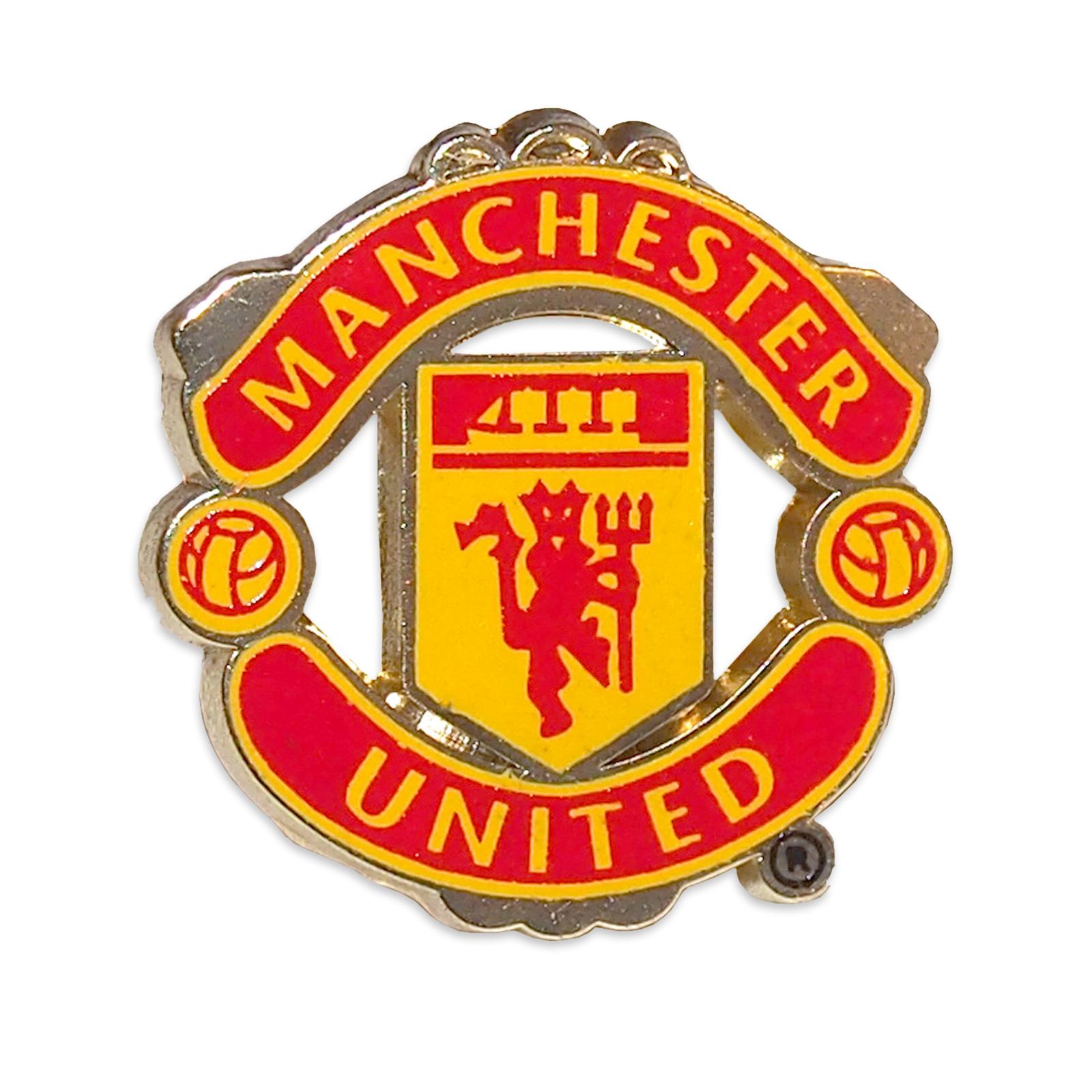 Detalles De Manchester United Fc Pin Oficial Con El Escudo Del Club Esmaltado