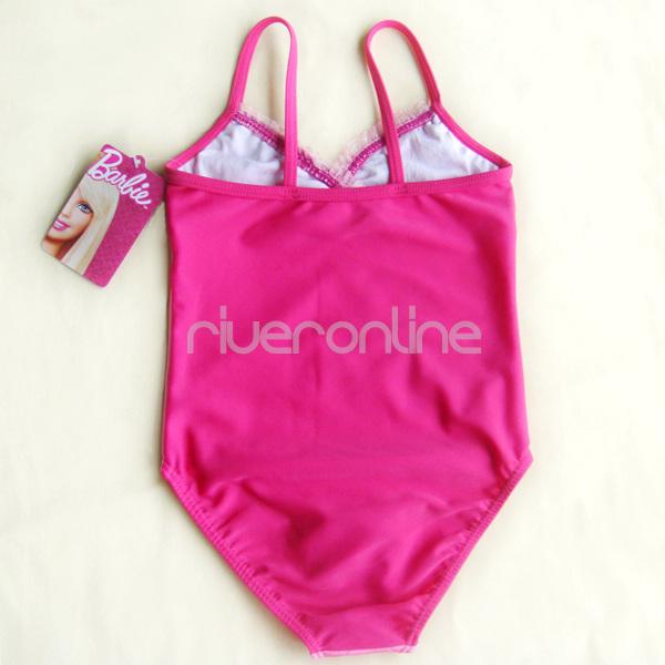 2012 Barbie 5T Pink Paillettes Girls Swimsuit Swimming Costume Tankini Bathing
