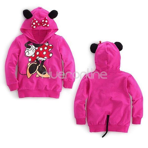 minnie mouse kost m m dchen kapuzen pullover hoodie sweatshirt jacke 3d ohren 4j ebay. Black Bedroom Furniture Sets. Home Design Ideas
