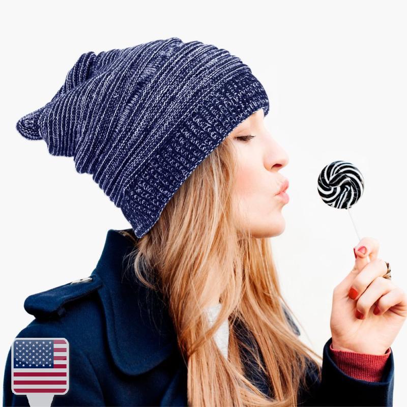 Unisex Basic Women Men Winter Knitted baggy Crochet Warm Ski Beanie ... f083e0506d2