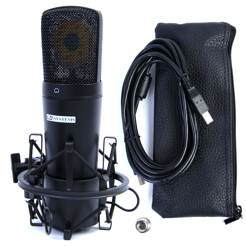ld systems usb pc studio condenser microphone mic cradle lead d1013cusb ebay. Black Bedroom Furniture Sets. Home Design Ideas