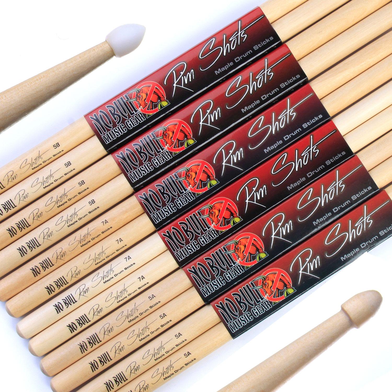 drum sticks 4 pairs 8 sticks of 39 no bull 39 maple drumsticks wood nylon tip ebay. Black Bedroom Furniture Sets. Home Design Ideas