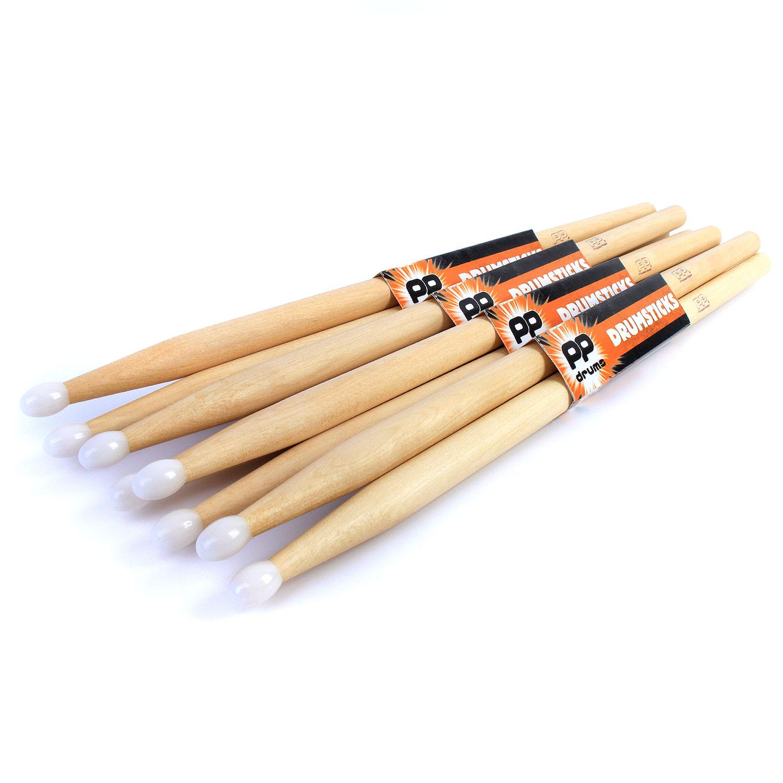 5a 5b 7a drum sticks 4 pairs of pp maple drumsticks wood nylon tip ebay. Black Bedroom Furniture Sets. Home Design Ideas