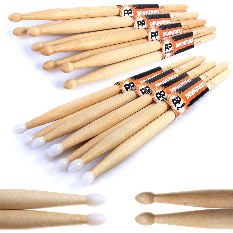 5a 5b 7a drum sticks 4 pairs of pp maple drumsticks wood nylon tip ebay