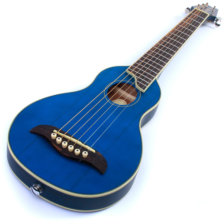 washburn r010 rover acoustic small backpacker travel guitar hardcase 4 colours ebay. Black Bedroom Furniture Sets. Home Design Ideas