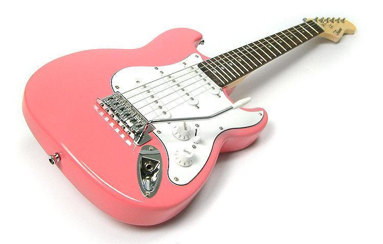 pink 3 4 size childrens childs electric guitar kids three quarter scale ebay. Black Bedroom Furniture Sets. Home Design Ideas