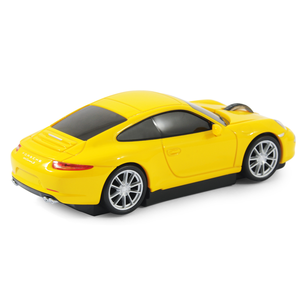 souris sans fil laser forme voiture porsche 911 991 carrera s jaune officiel ebay. Black Bedroom Furniture Sets. Home Design Ideas