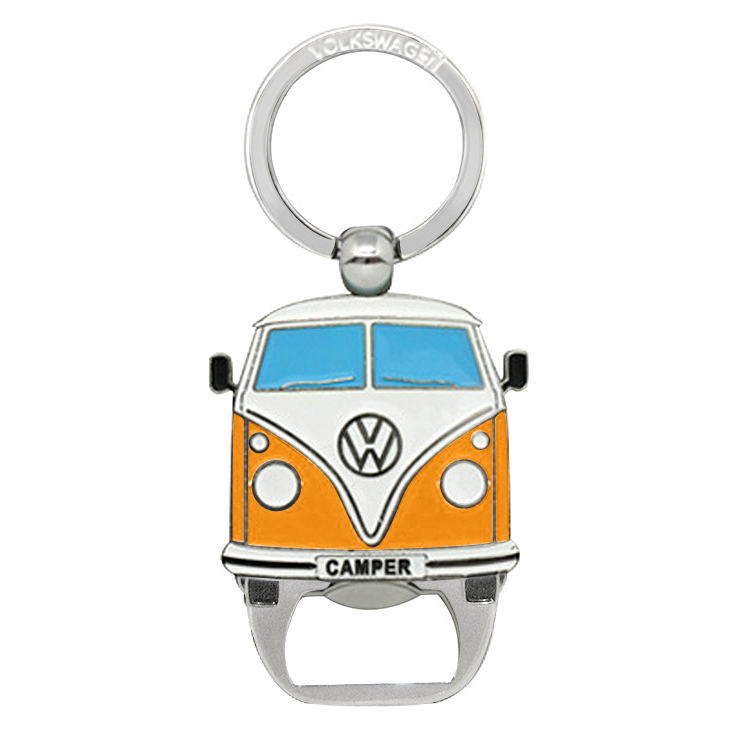 official vw camper van metal bottle opener keyring orange ebay. Black Bedroom Furniture Sets. Home Design Ideas