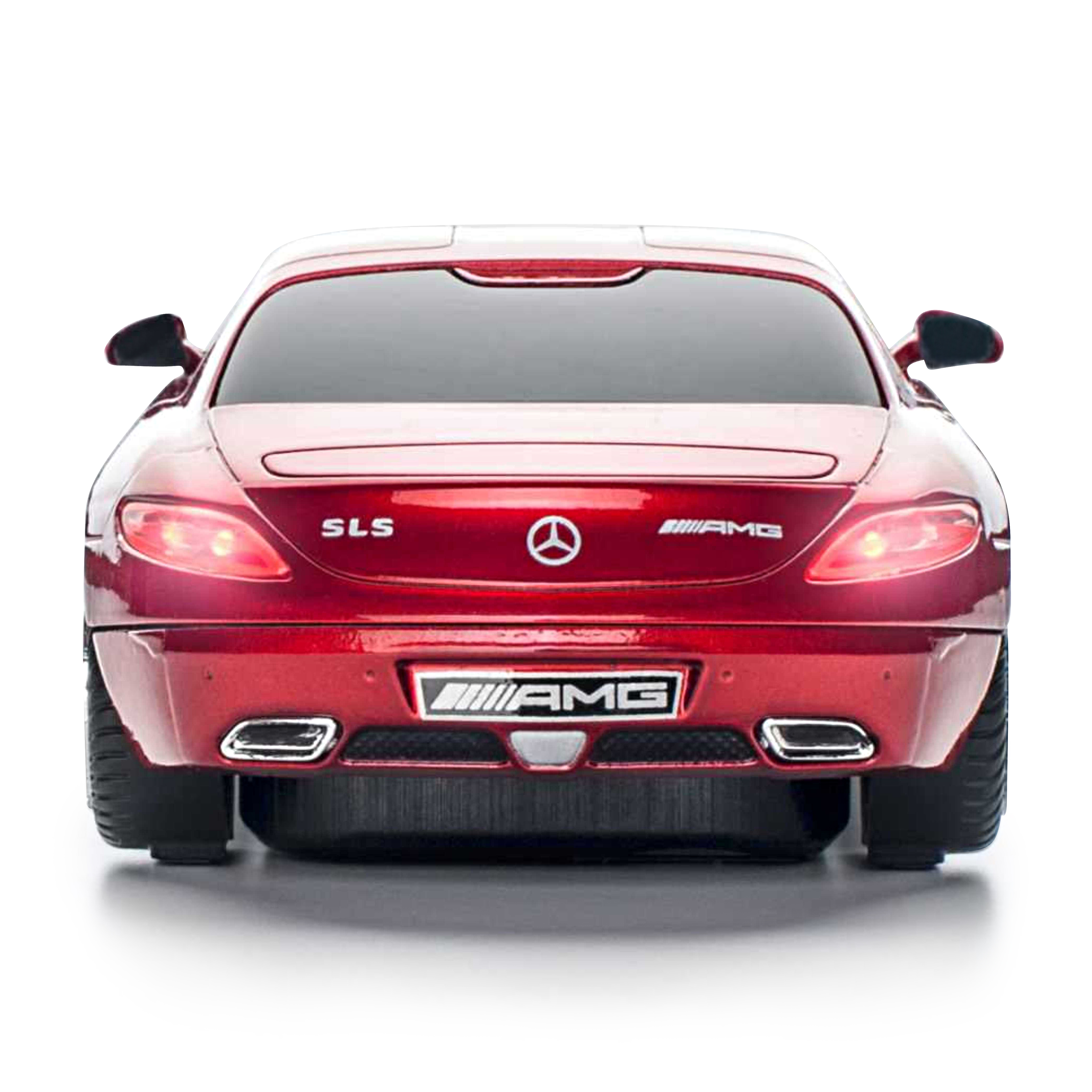 Official mercedes benz sls amg wireless computer mouse red for Mercedes benz sls amg red