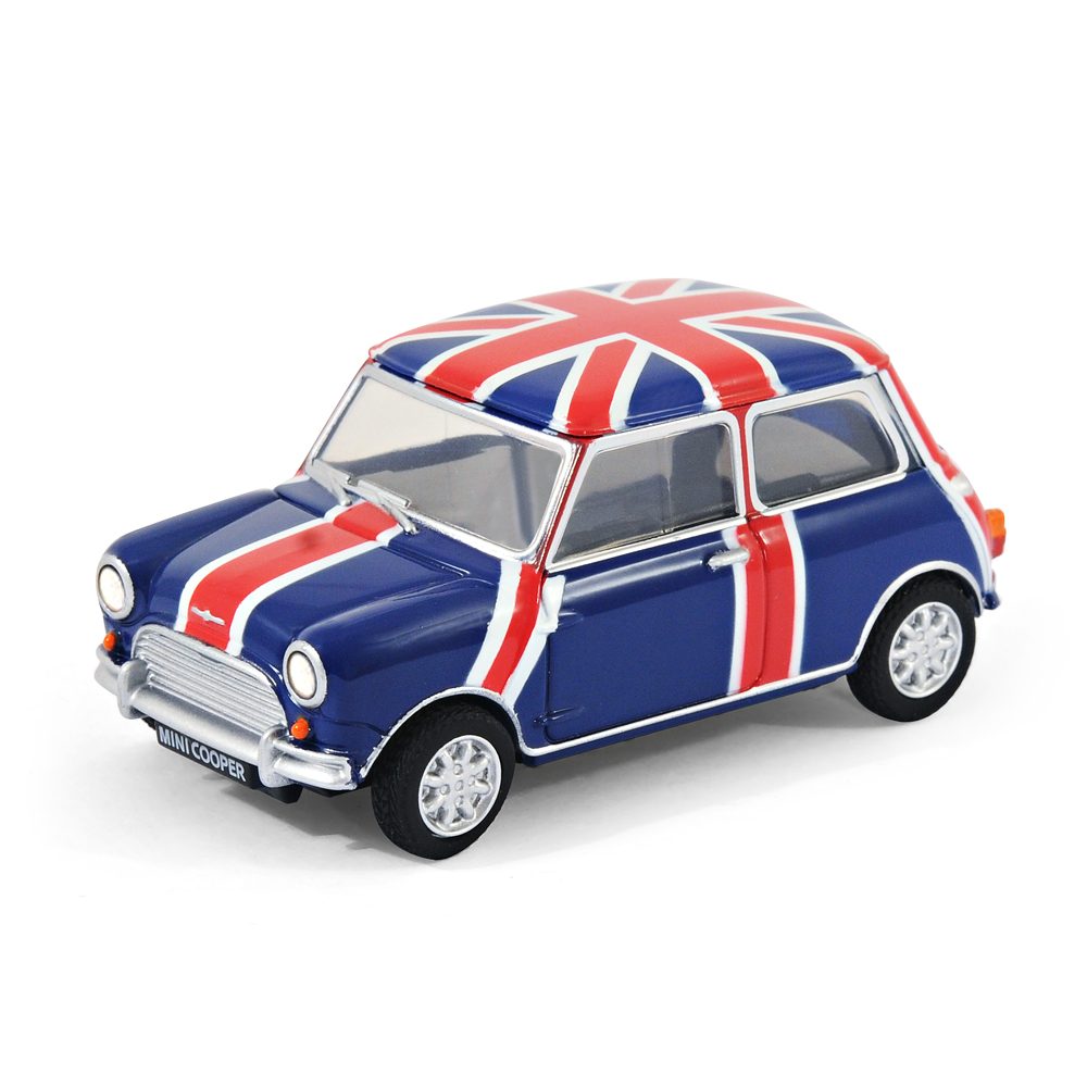 classic mini cooper car usb memory stick 8gb blue pavilion union jack ebay. Black Bedroom Furniture Sets. Home Design Ideas