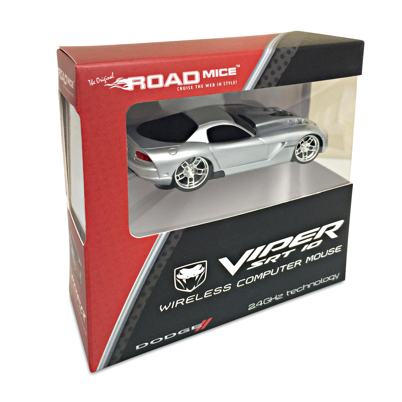 road mice dodge viper auto drahtlos rechner maus silber ebay. Black Bedroom Furniture Sets. Home Design Ideas