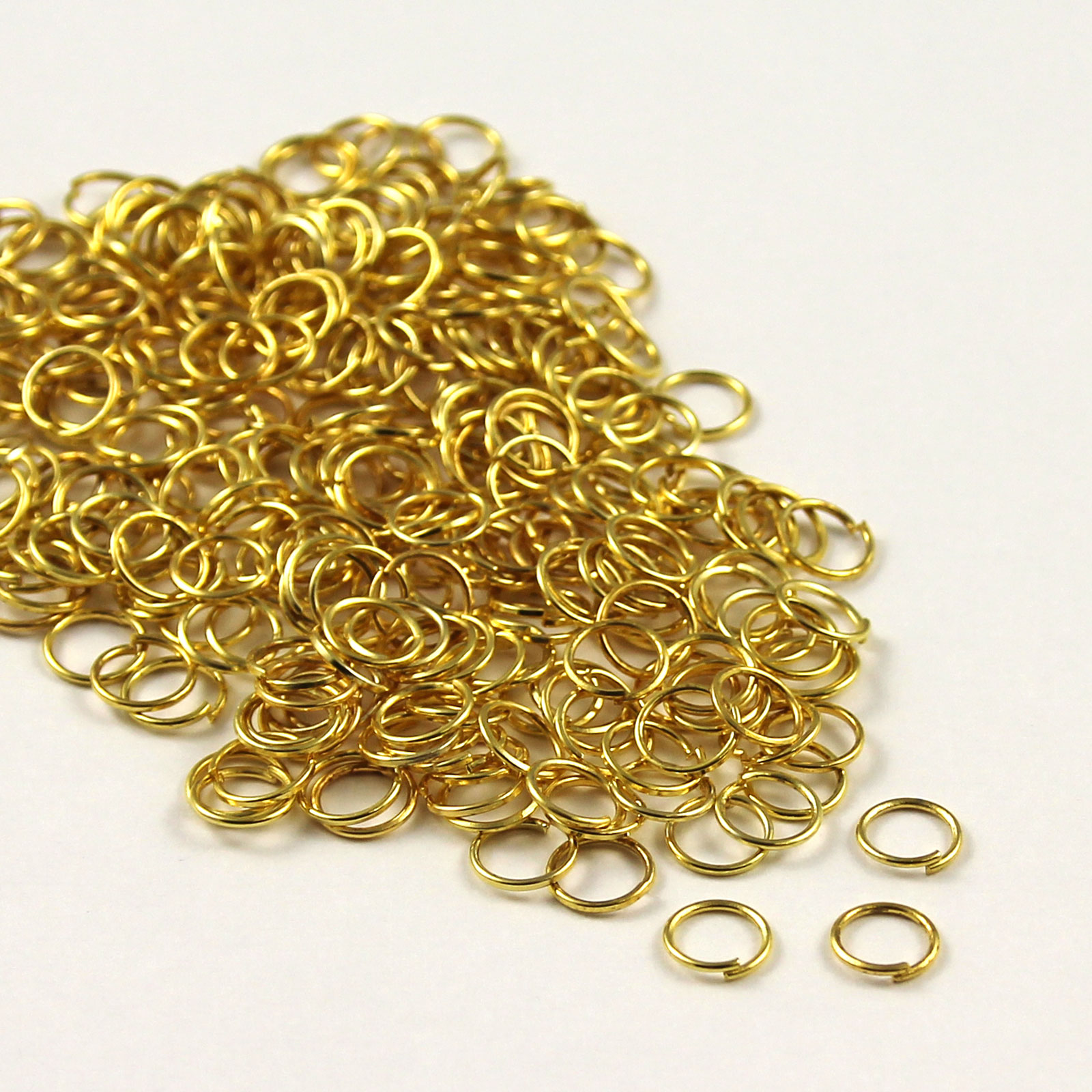 Bronze-Gold-amp-SILVER-PLATED-Metal-JUMP-RINGS-4-5-6-7-8-9-10mm