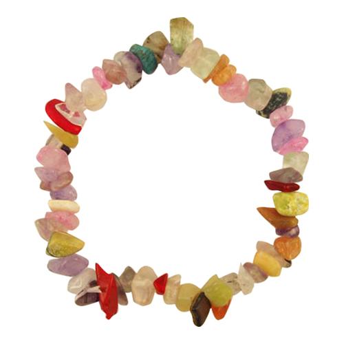 Gemstone-Crystal-Chip-Beaded-Bracelet-Stretch-Gift-Charm-Reiki-Healing-Bracelets