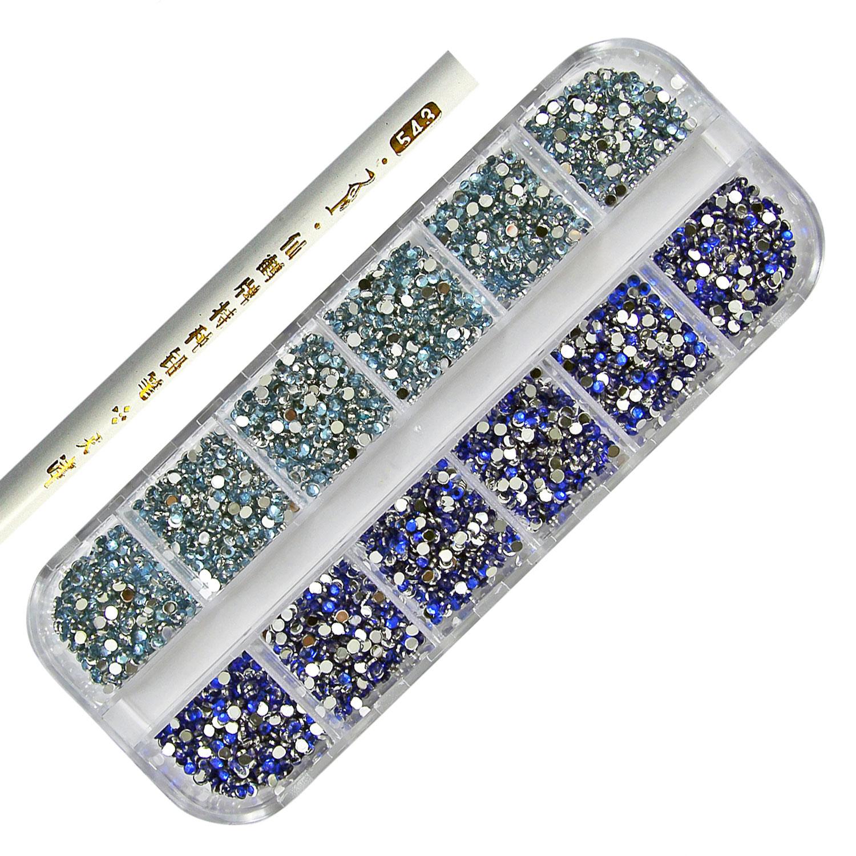 3000 Pcs Nail Art Rhinestone 2mm Round Diamante Gems - Choose From 7 ...
