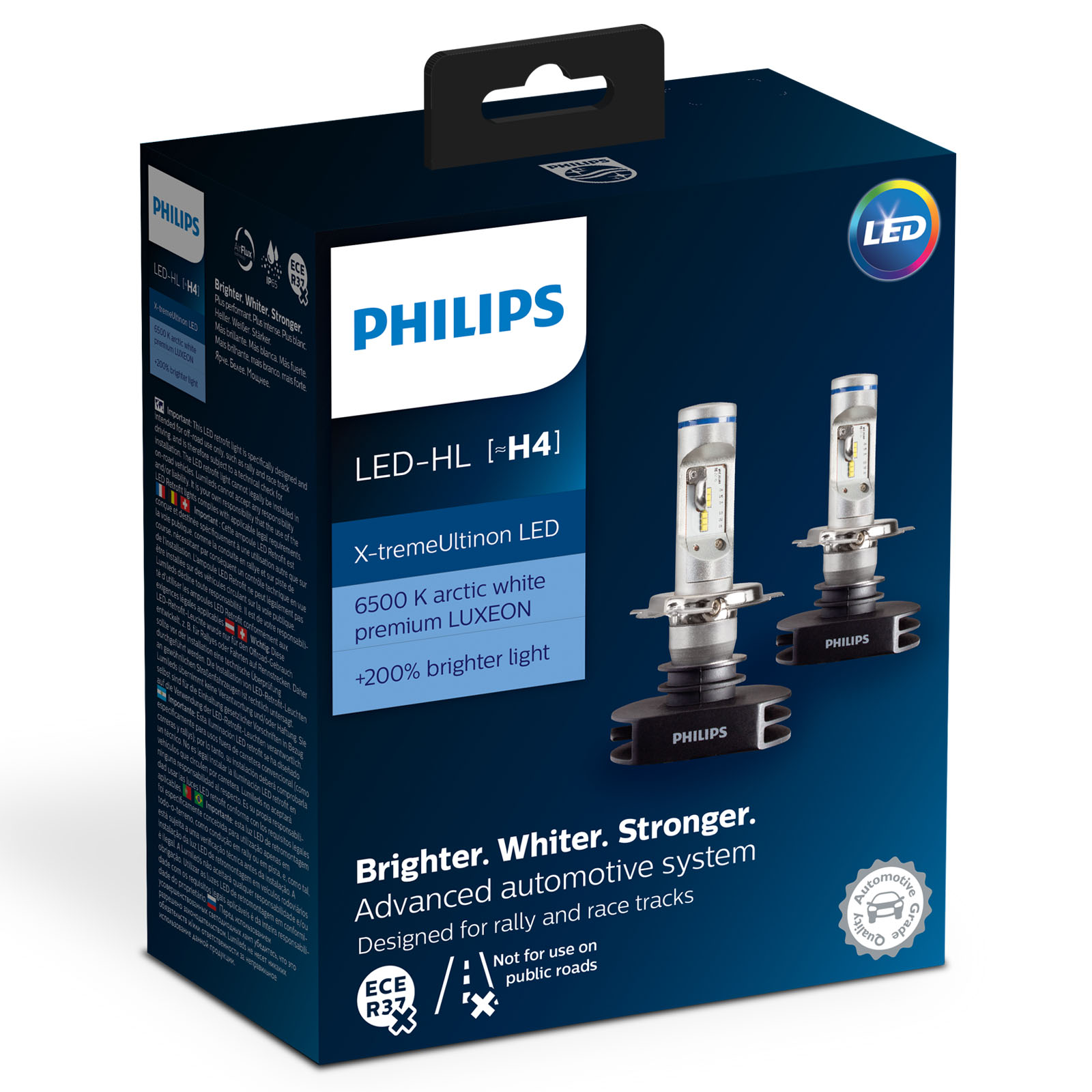 philips x treme ultinon gen1 gen2 led car bulbs h1 h4 h7 hb3 hb4 h8 h11 h16 ebay. Black Bedroom Furniture Sets. Home Design Ideas