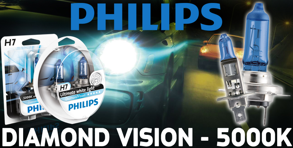 philips diamond vision 5000k h7 car headlight bulbs twin. Black Bedroom Furniture Sets. Home Design Ideas