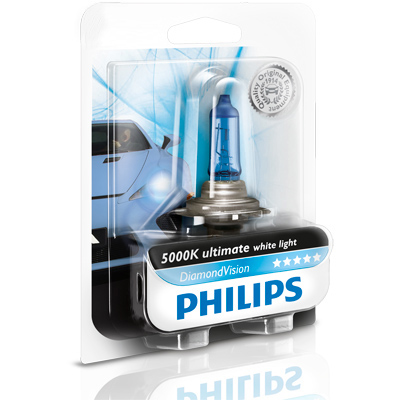 philips diamond vision 5000k car styling headlight bulbs. Black Bedroom Furniture Sets. Home Design Ideas