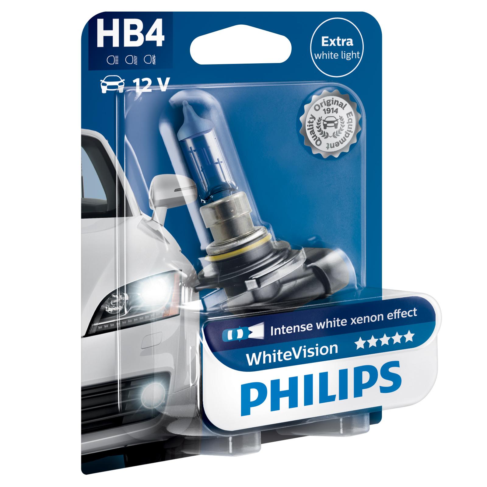 Philips-WhiteVision-Car-Headlight-Bulbs-H1-H3-H4-H7-H8-HB3-HB4-H11-White-Vision