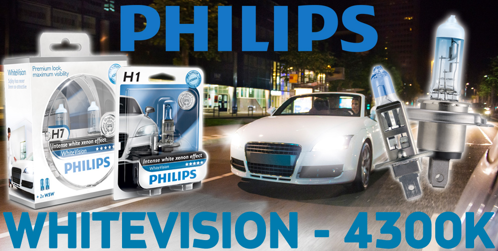 philips whitevision car headlight bulbs h1 h3 h4 h7 hb3 w5w t4w single twin ebay. Black Bedroom Furniture Sets. Home Design Ideas