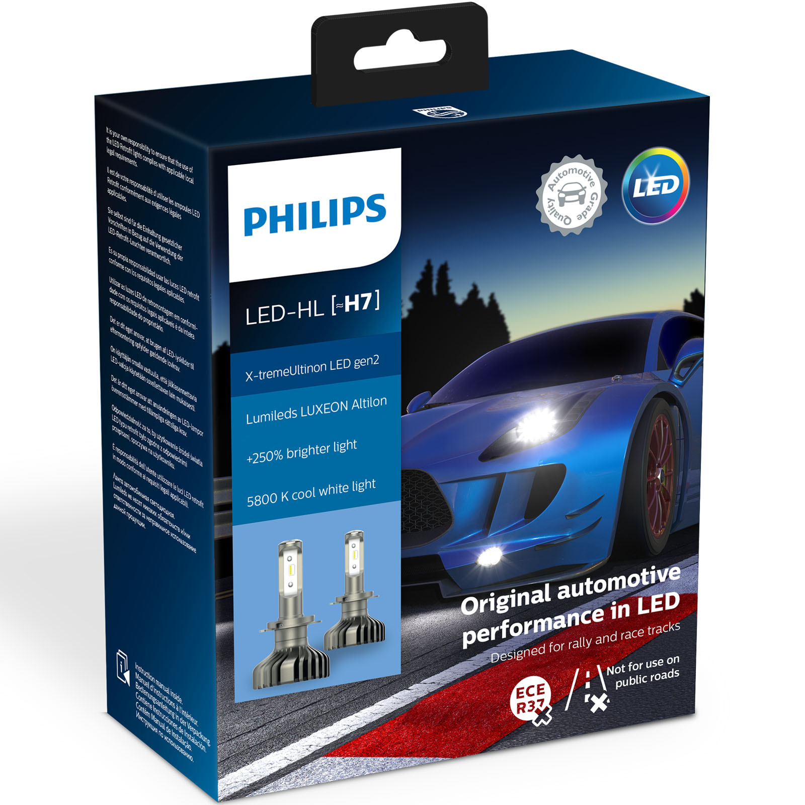 philips x treme ultinon gen2 led h7 car headlight bulbs. Black Bedroom Furniture Sets. Home Design Ideas