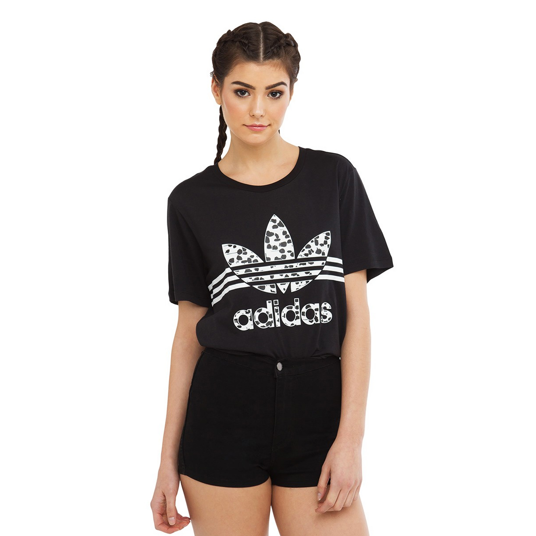 Adidas Originals Womens Boyfriend Tee Inked Logo T Shirt