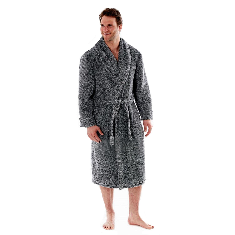 Harvey James Mens Soft Fleece Dressing Gown Warm Comfy ...