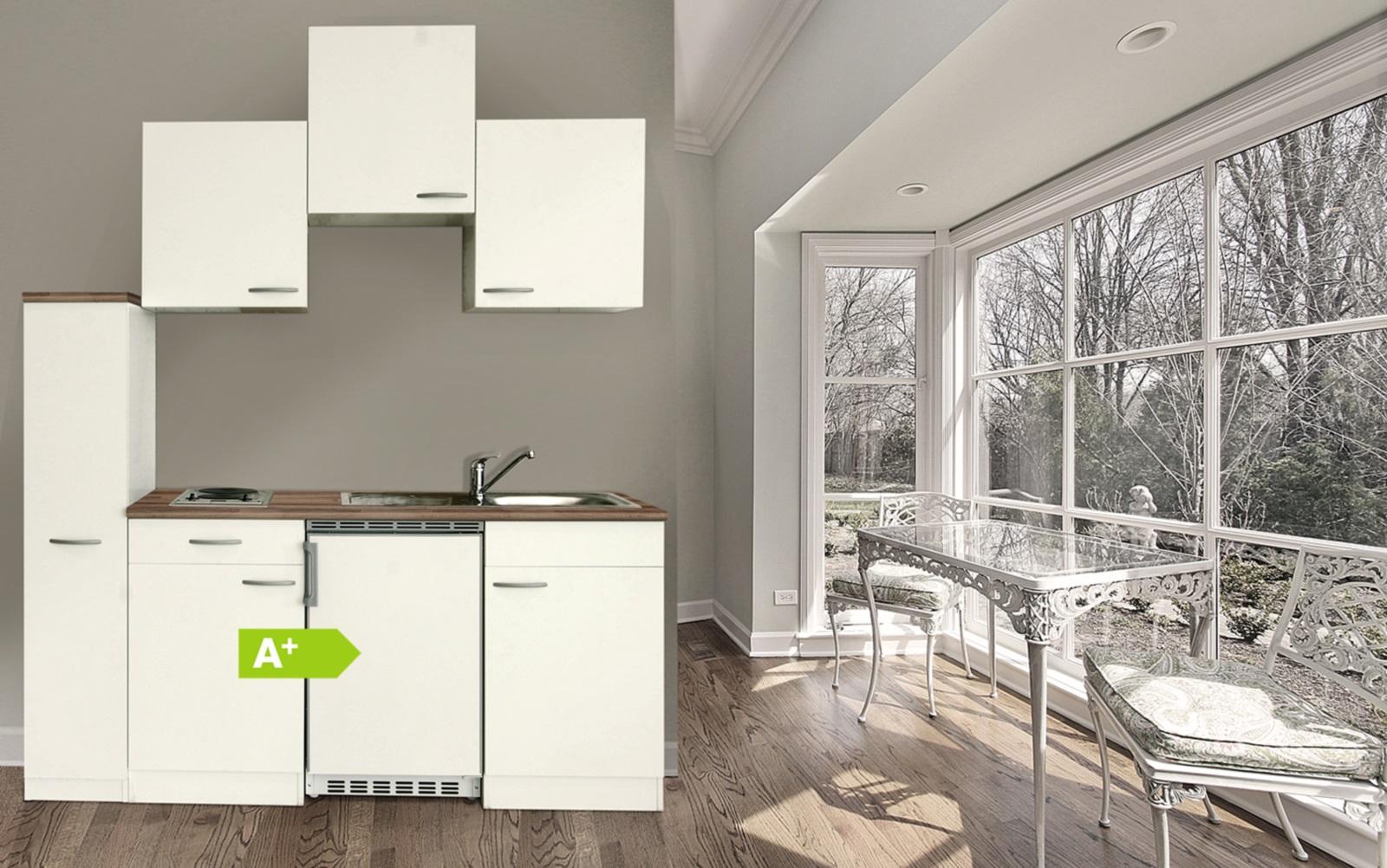 Küchenzeile 180 cm weiß Büroküche Miniküche
