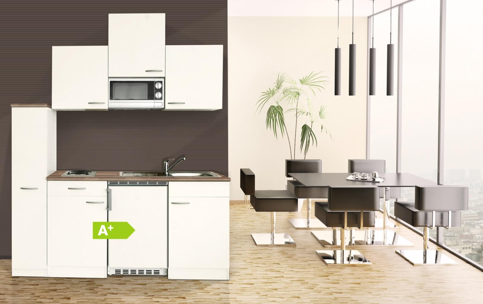 Miniküche Mit Kühlschrank 180 Cm : Respekta single mini küche küchenblock weiss cm mikrowelle