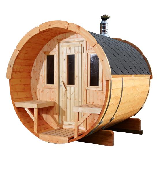 Top Wolff Finnhaus Saunafass 250 Bausatz, Sauna, Außensauna, Saunahaus  FU14