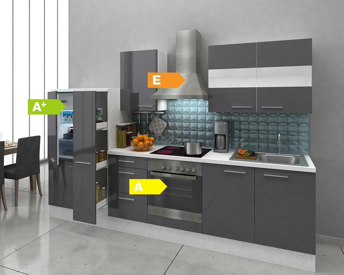 Küchenzeile Respekta Premium ~ respekta premium küchenzeile rp300wwc 300 cm weiß, küchen, küche, vers farben ebay