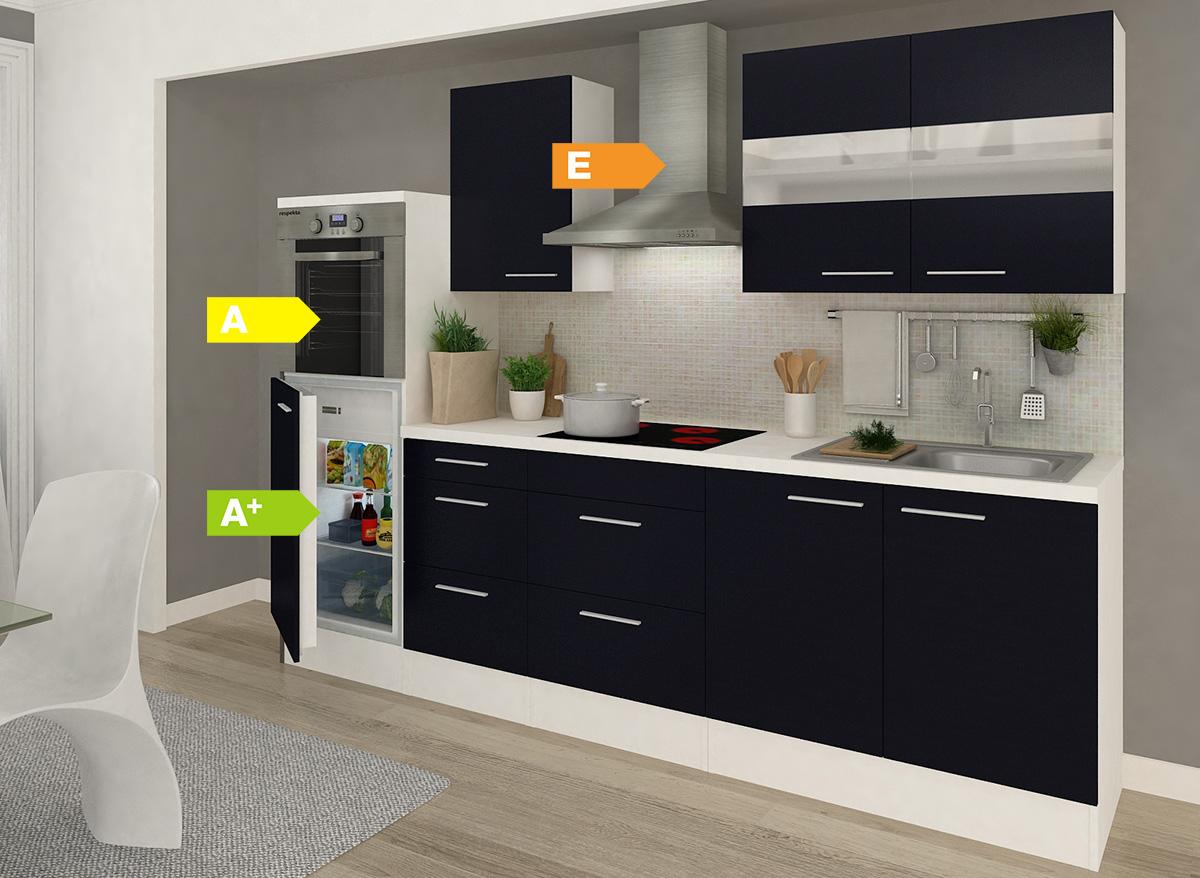 Respekta Premium Küchenzeile RP270HWW 270 cm Weiß, vers. Farben ...