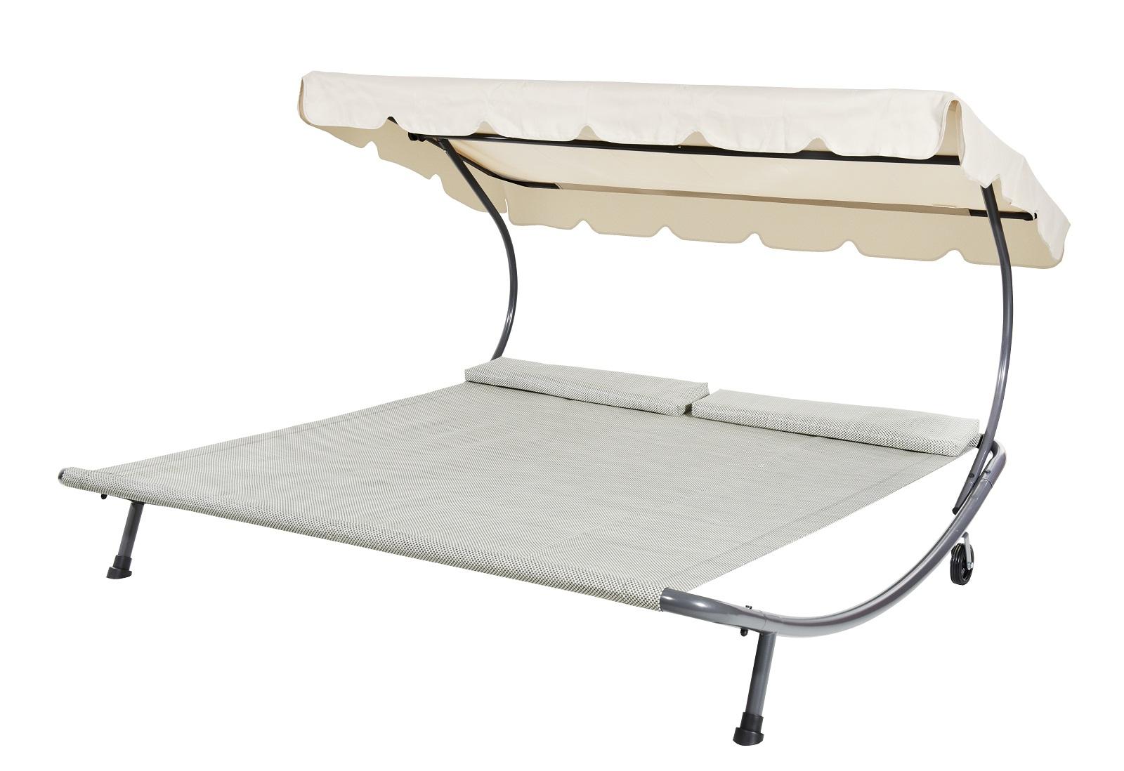 leco doppelliege 200 x 200 cm relaxliege gartenliege liege sommerliege ebay. Black Bedroom Furniture Sets. Home Design Ideas