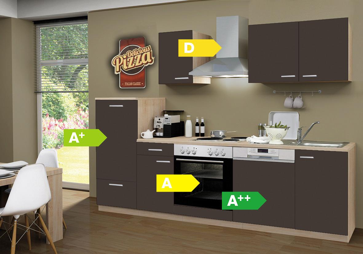 menke k chen k chenzeile classic 270 cm inkl geschirrsp ler k chenblock k che ebay. Black Bedroom Furniture Sets. Home Design Ideas