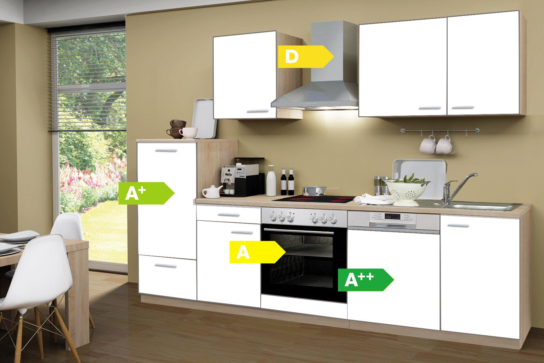 Menke Küchen Küchenzeile Classic 280 cm, Küchenblock, Küche ...