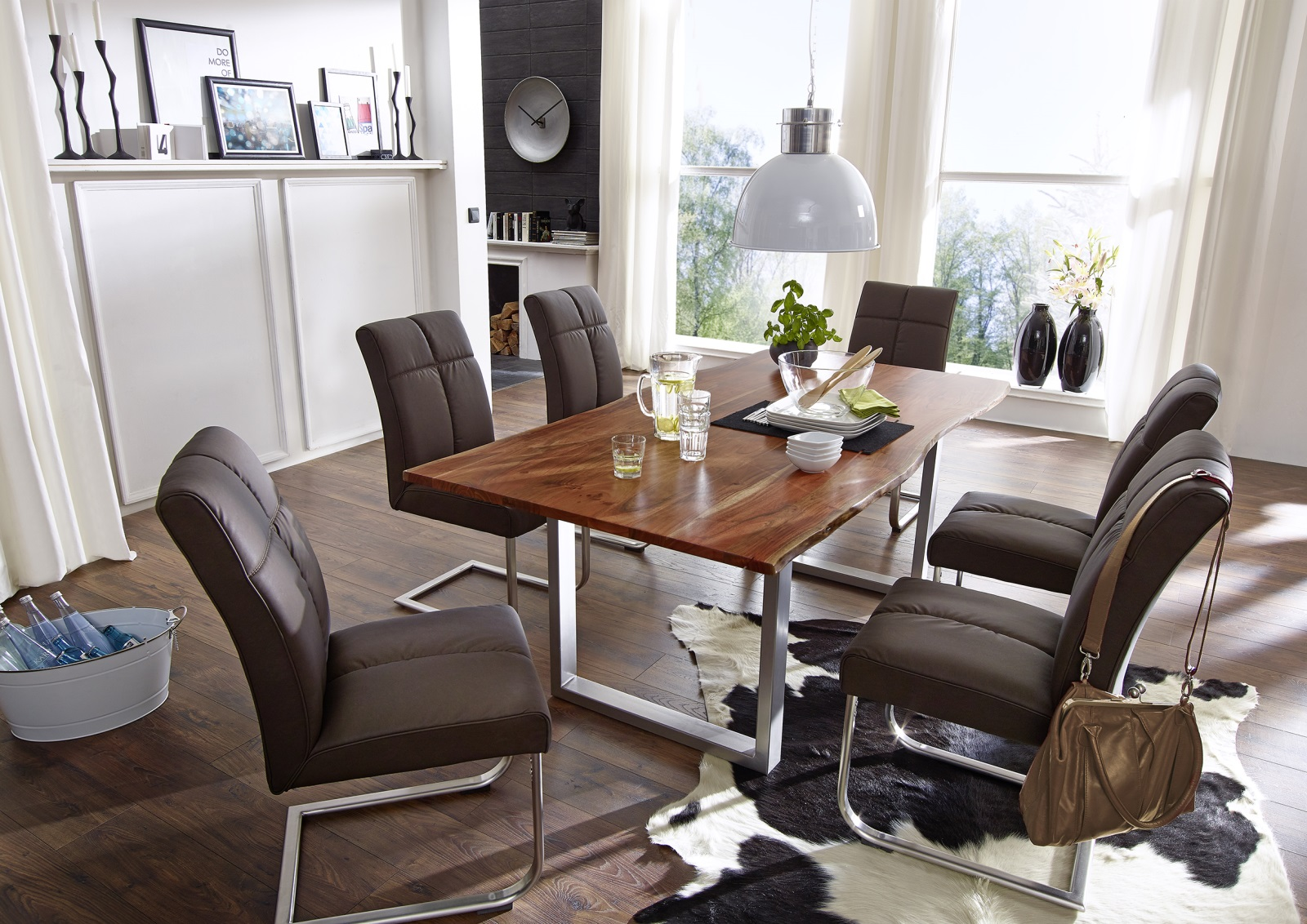 G+ K Esstisch Agra 160x90cm, Tisch, Akazie, Massiv, Gestell .