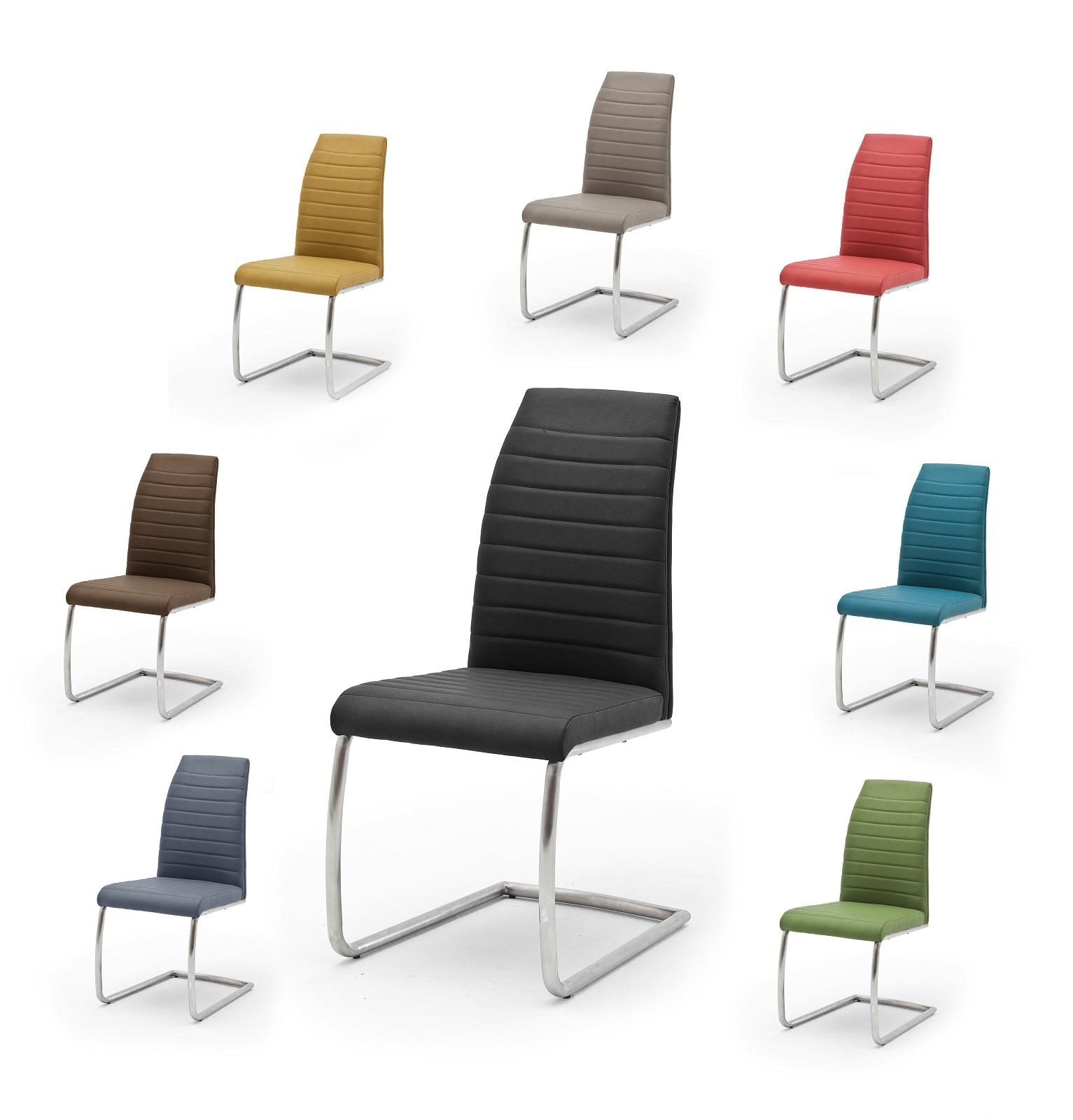 2x freischwinger flores mca set stuhl metall bunt schwinger st hle. Black Bedroom Furniture Sets. Home Design Ideas