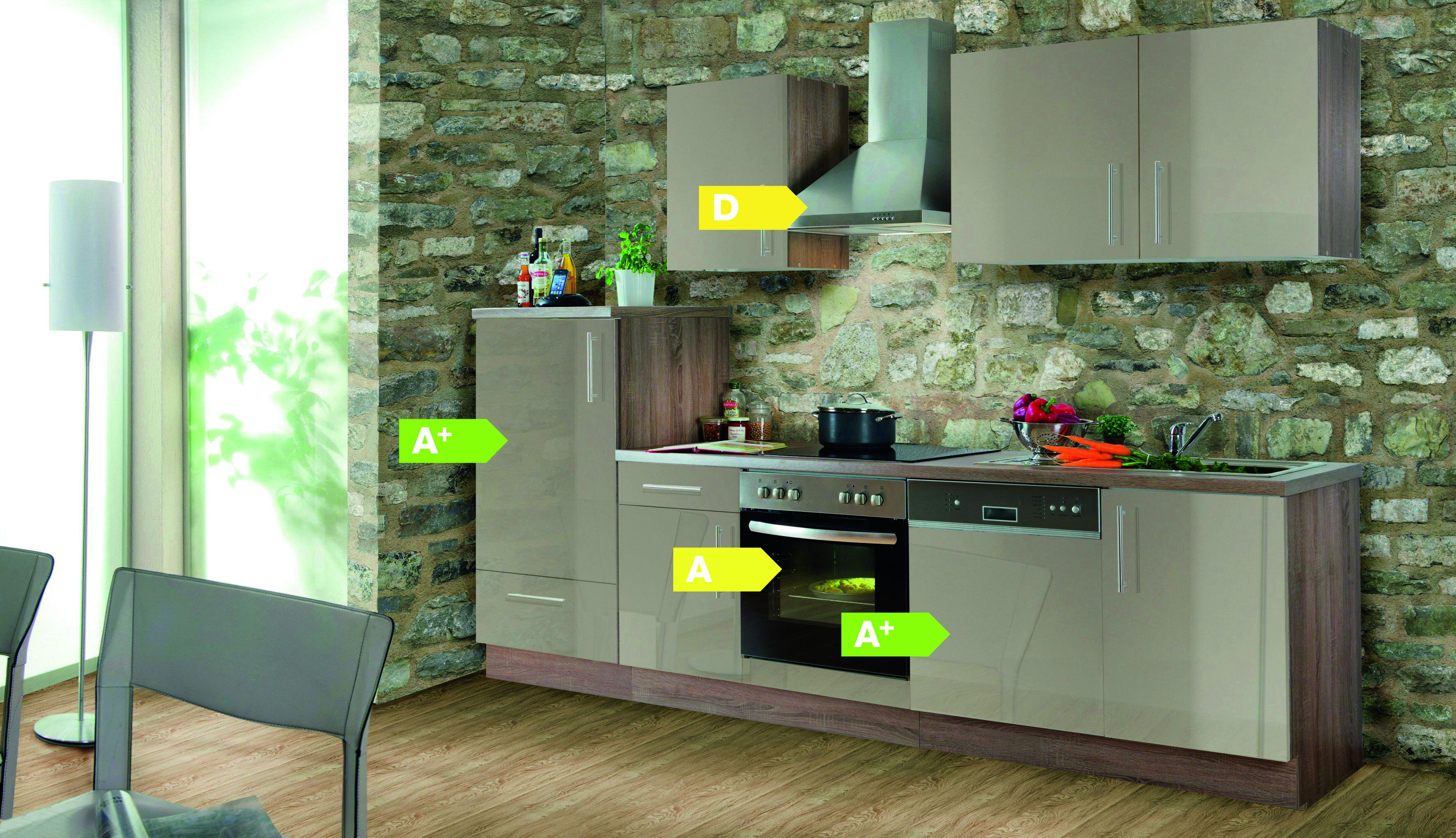 Menke Küchen Küchenzeile Verona 280 cm, Küchenblock, Küche ...