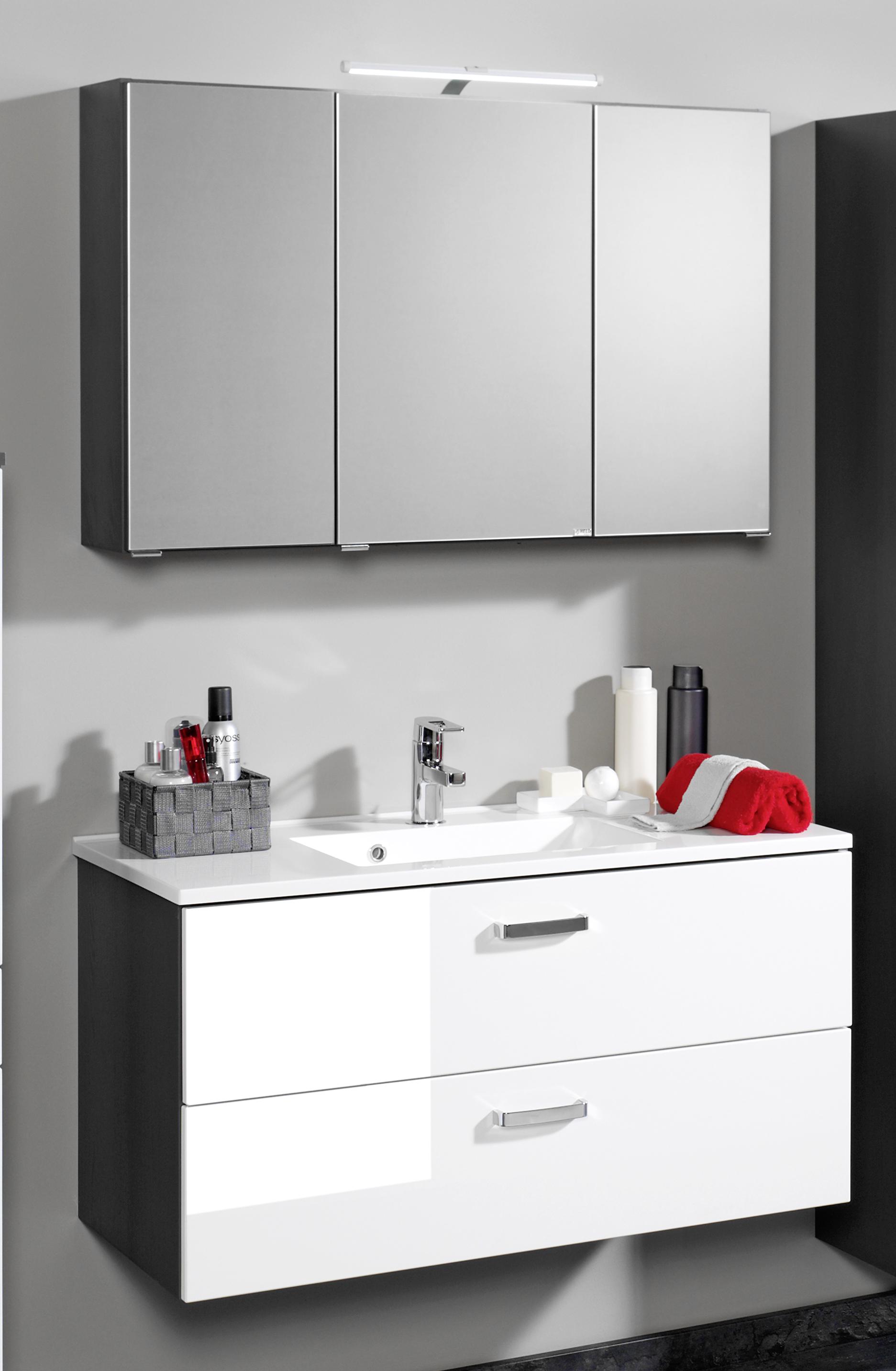 held m bel bologna waschtisch spiegel set badschrank schrank badezimmerschrank ebay. Black Bedroom Furniture Sets. Home Design Ideas