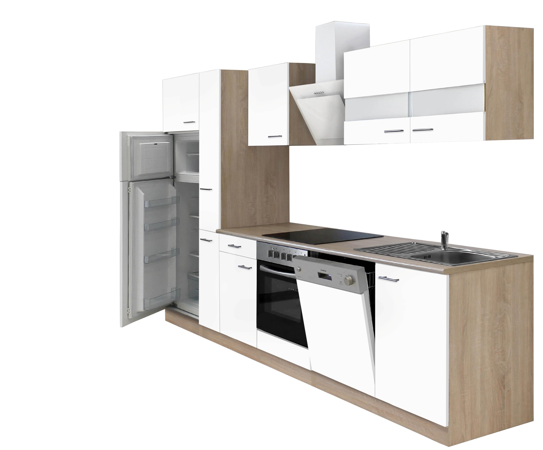 respekta k chenzeile kb310eswcgke 310cm eiche s gerau nachbildung k che k chen ebay. Black Bedroom Furniture Sets. Home Design Ideas
