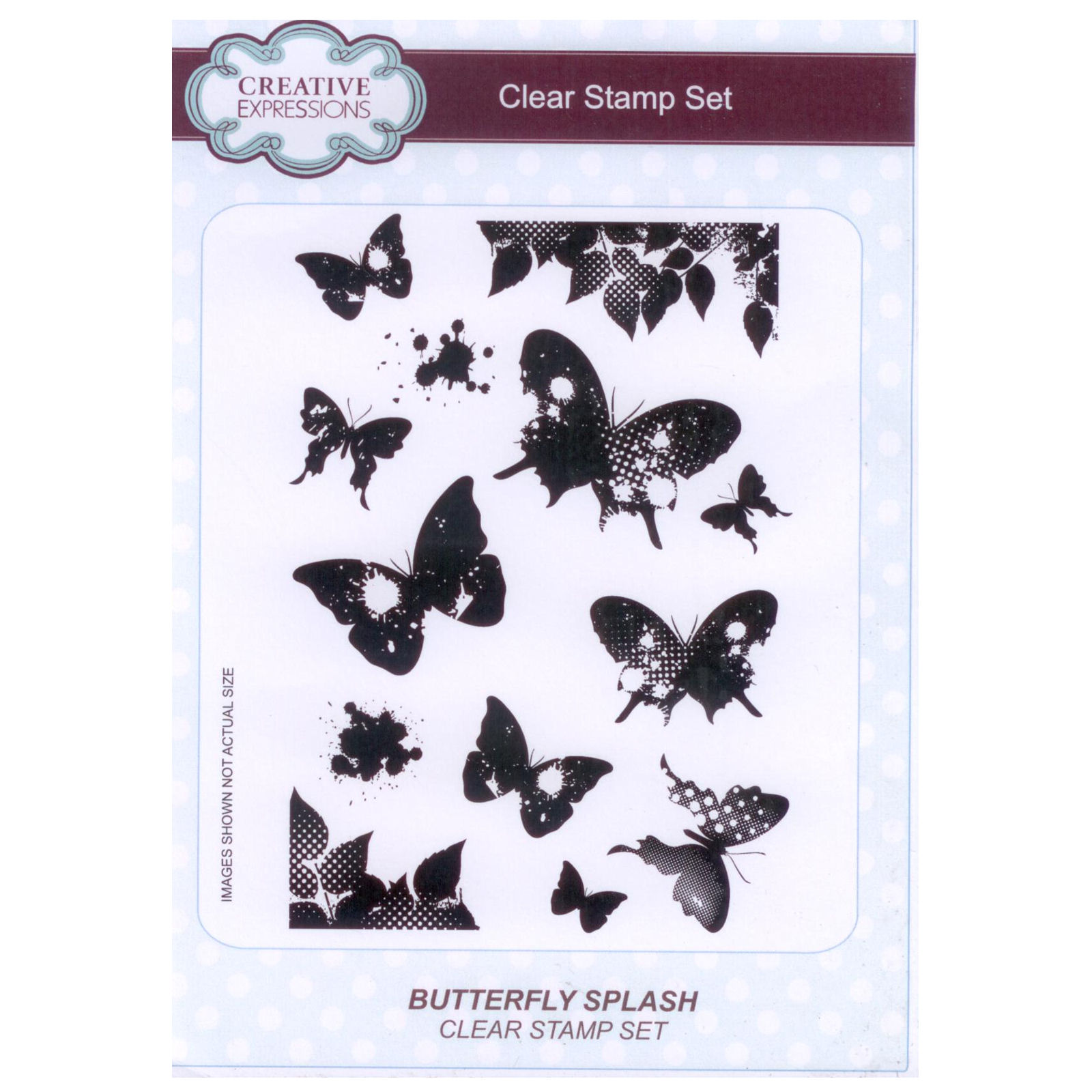 Creative Expressions A5 Clear Stamp Set BUTTERFLY SPLASH CEC783