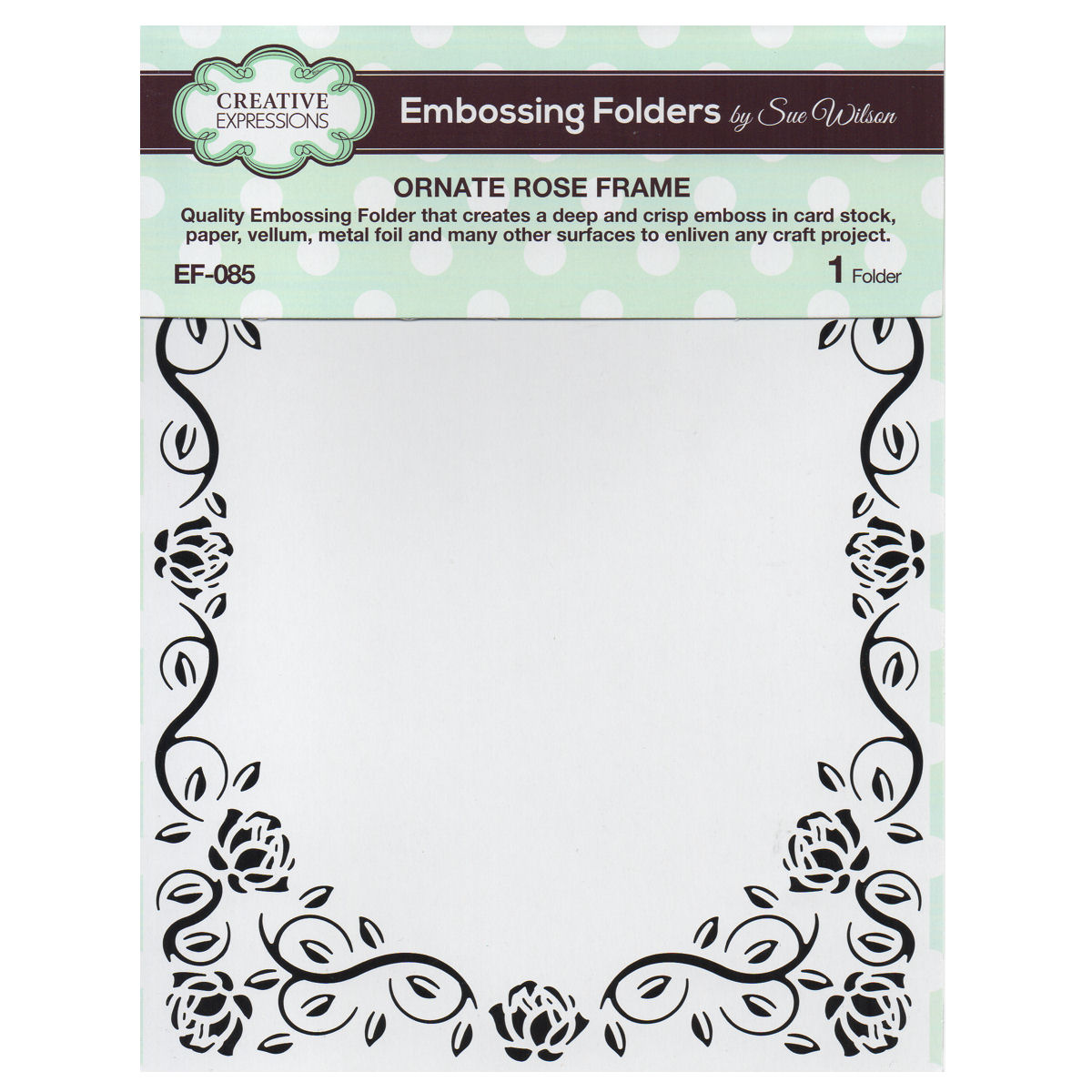Embossing Folder by Sue Wilson Eve/'s Snowflakes EF-096 Creative Expressions
