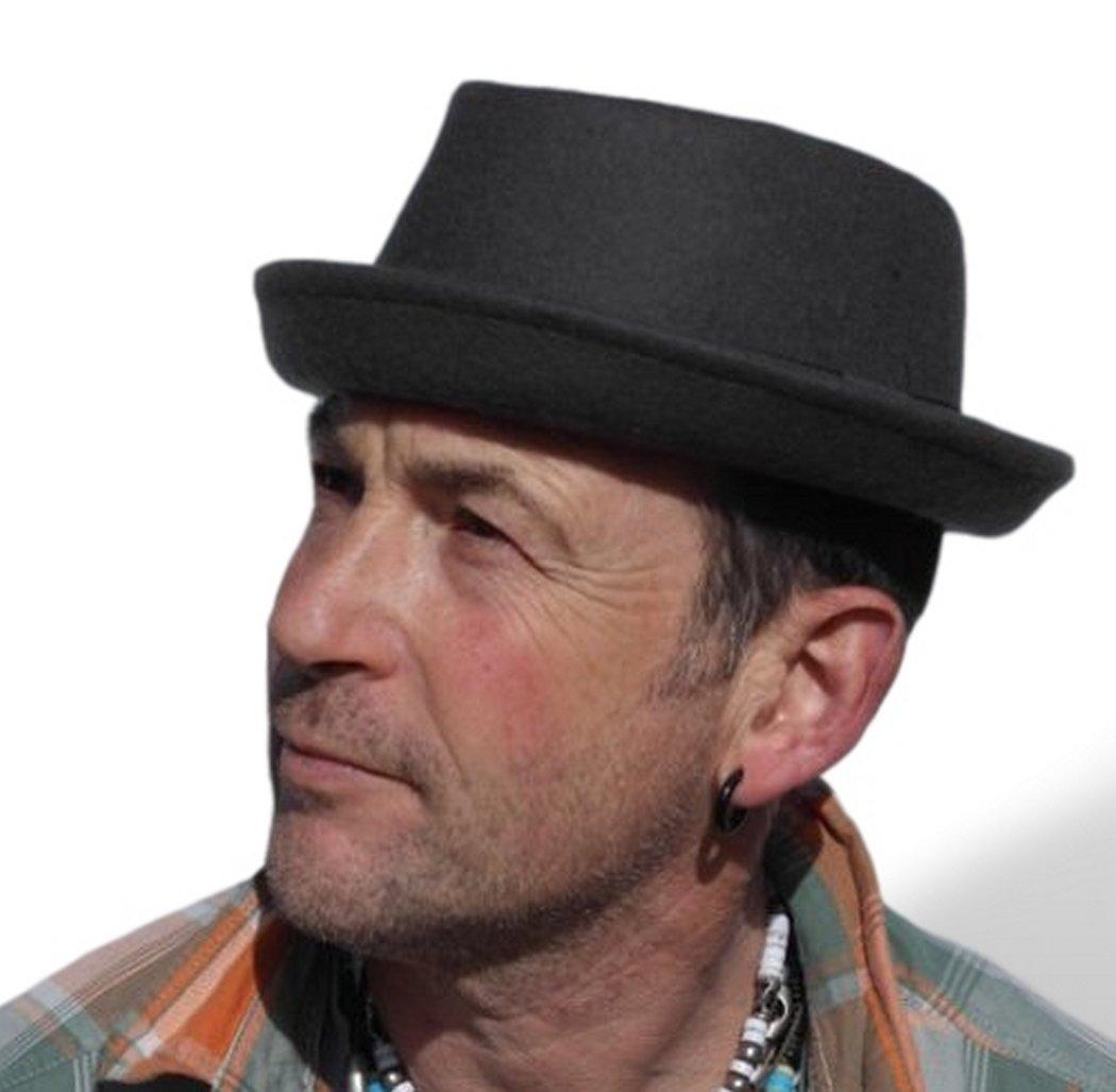 Rude Boy   Ska Pork pie felt hat - Grey - Size 57cm (Medium)  1e7edcf8b769