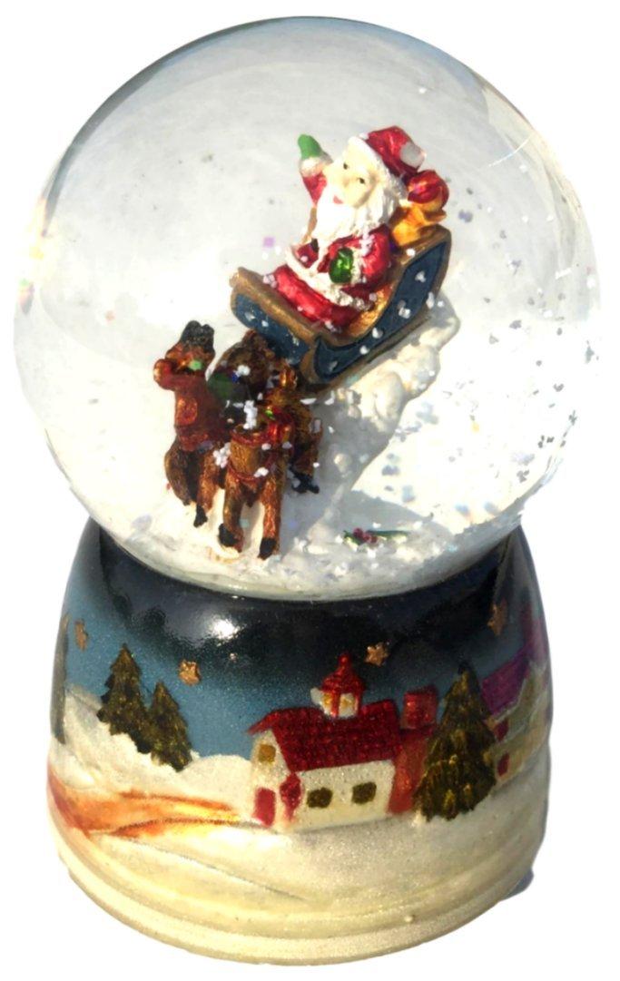 Mousehouse Gifts Christmas Snow Globe Musical Santa /& Penguin Christmas Decoration Jingle Bells Music