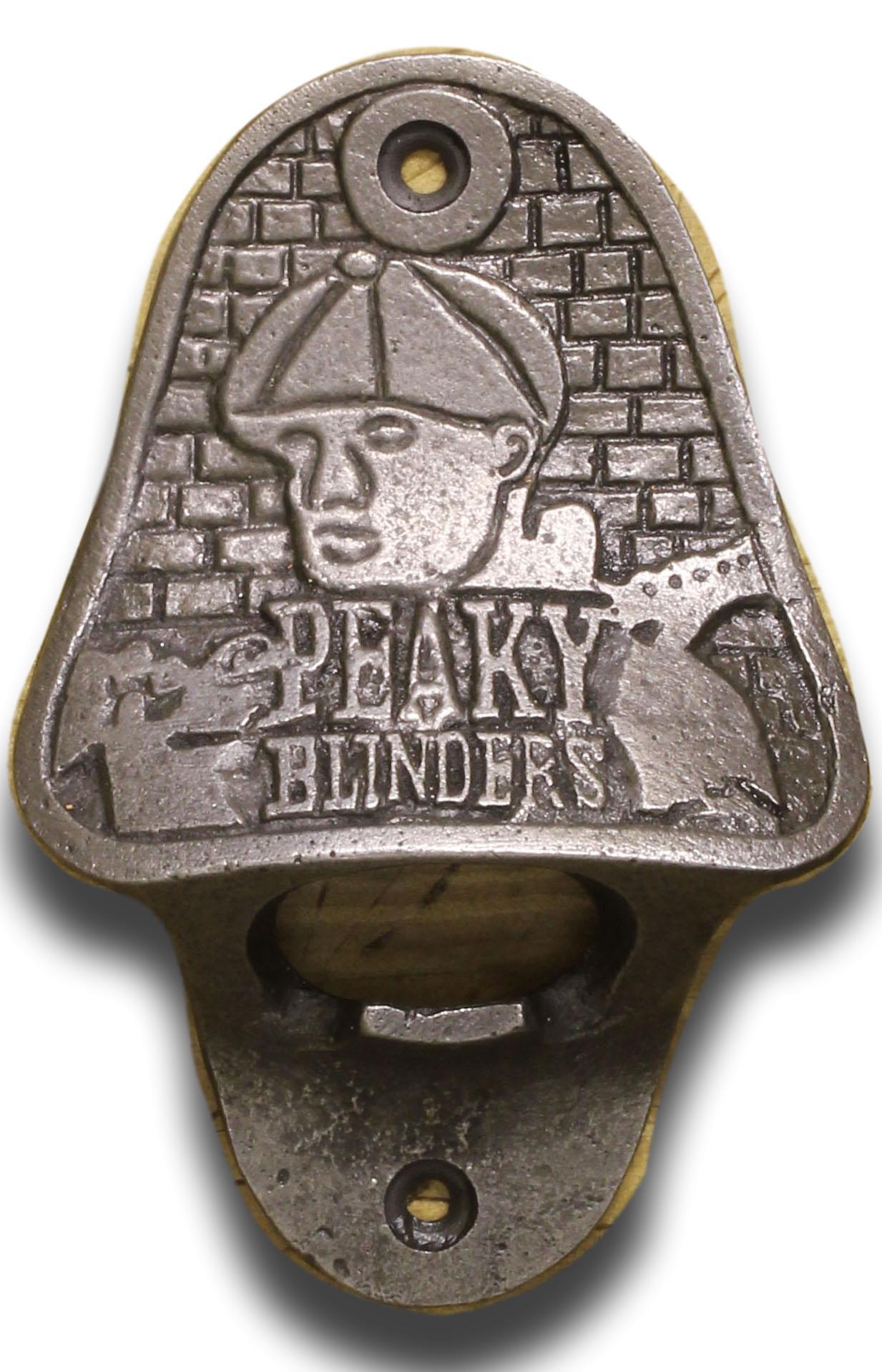 Cast Iron Bottle Opener//Heavy//Vintage//Antiqued//Bar Blade//Drinks// PEAKY BLINDERS