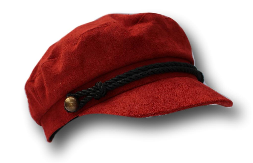 Borgogna Cappello Da Strillone Capitani Breton Stile Cappello 58cm-mostra Il Titolo Originale